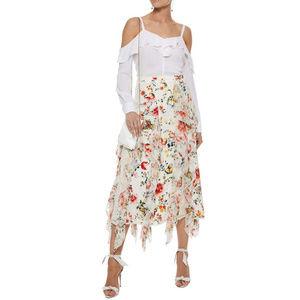 New Alice + Olivia Yula Silk Midi Skirt